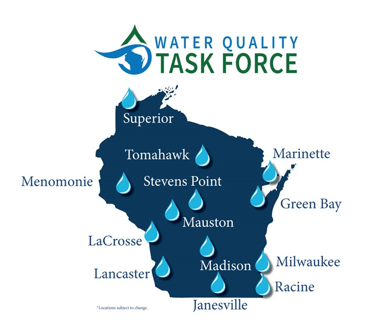 Updated Milwaukee Included Water Quality Locations